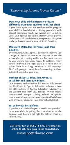 Empowering Parents In Special Education >> Home Special Education Attorney Andrew Potter